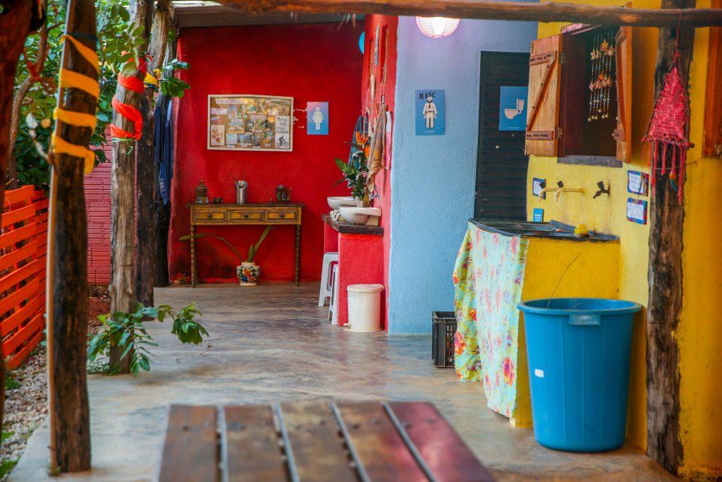 Areas de uso comum e banheiros- Hostel & Camping Cavalcante